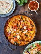 Creamy paneer & veg curry