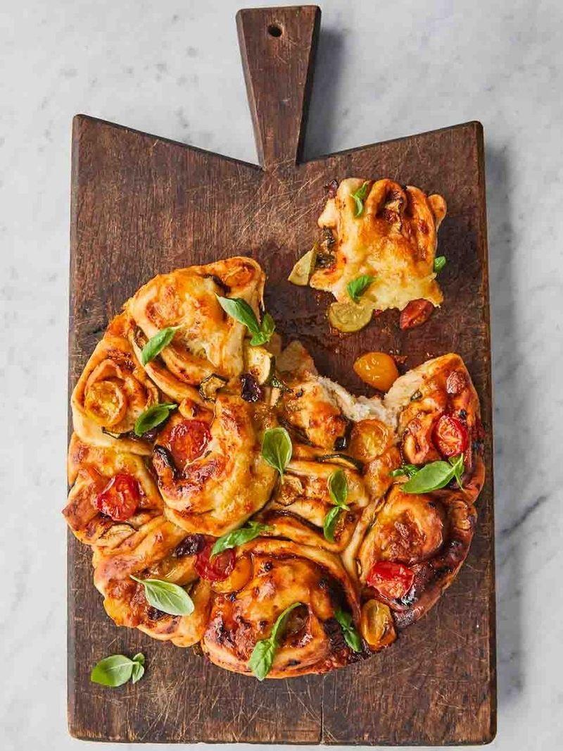 Pizza twister bread