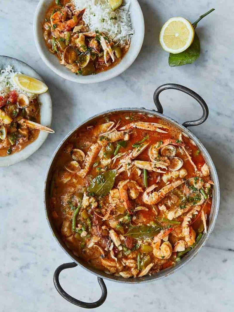 Susan Sarandon's seafood gumbo