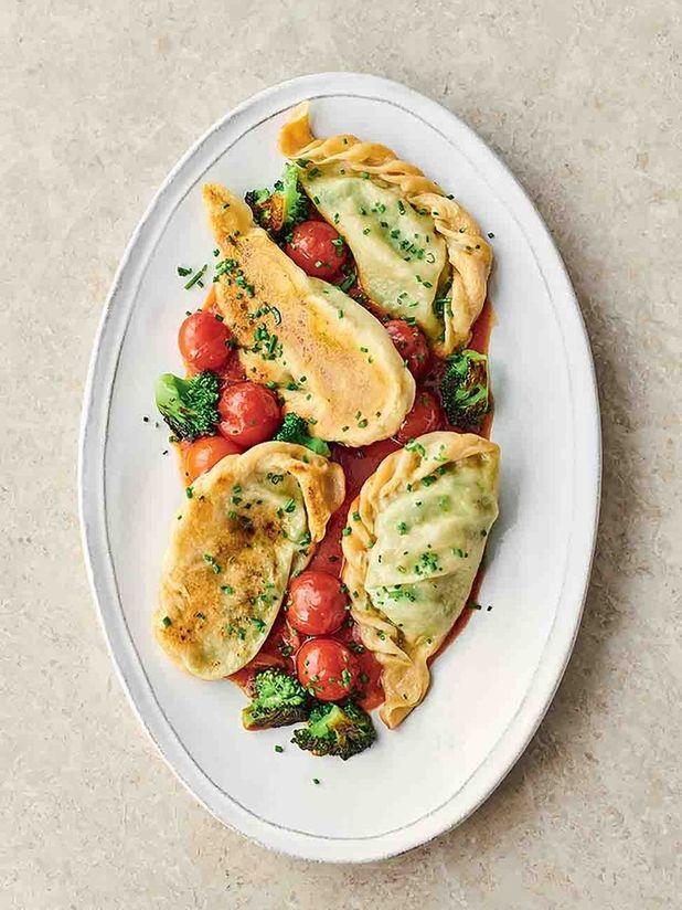 Broccoli & cheese pierogi