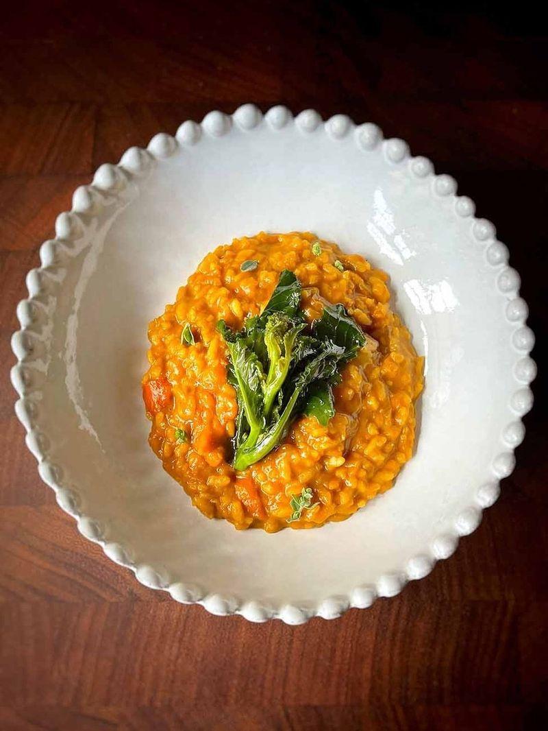 Silky squash risotto