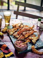 Jamestown grilled prawns