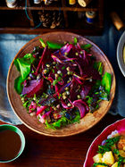 Roasted beetroot, red onion & watercress salad