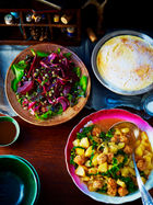 Chorizo, potato & cabbage stew