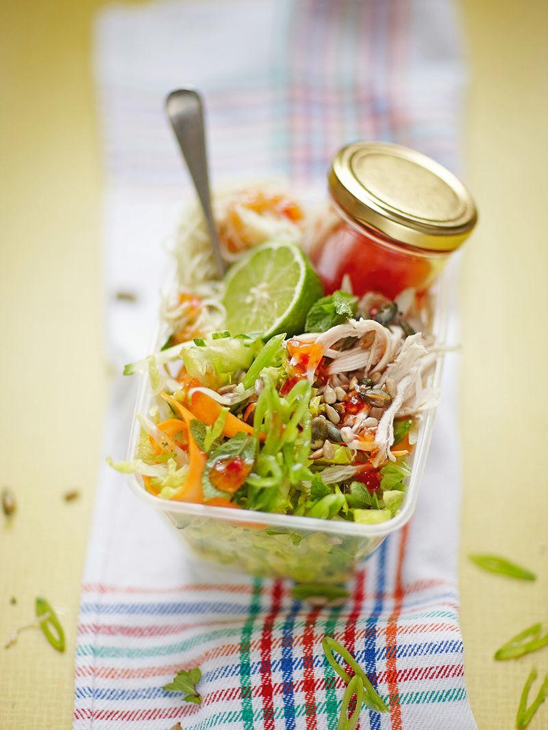 Firecracker chicken noodle salad