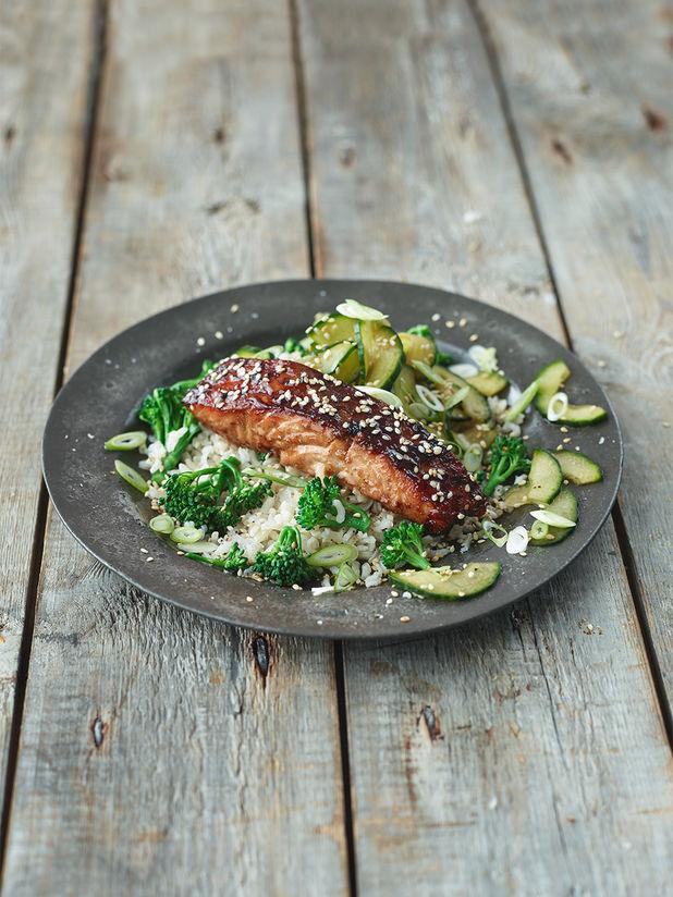 Sticky Asian-style salmon