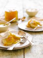 Shortcake, curds & marmalade