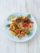 Super-simple chicken curry traybake