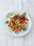 Super-simple chicken curry traybake