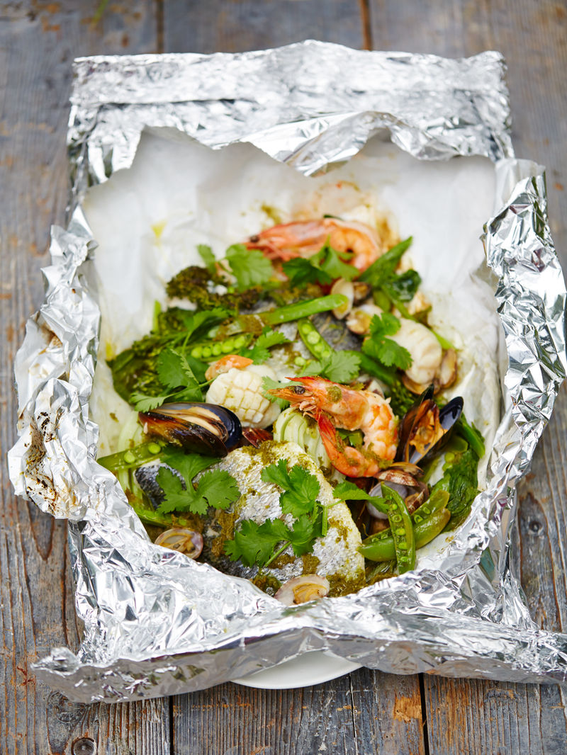 Asian Style Seafood Parcels Jamie Oliver Recipes