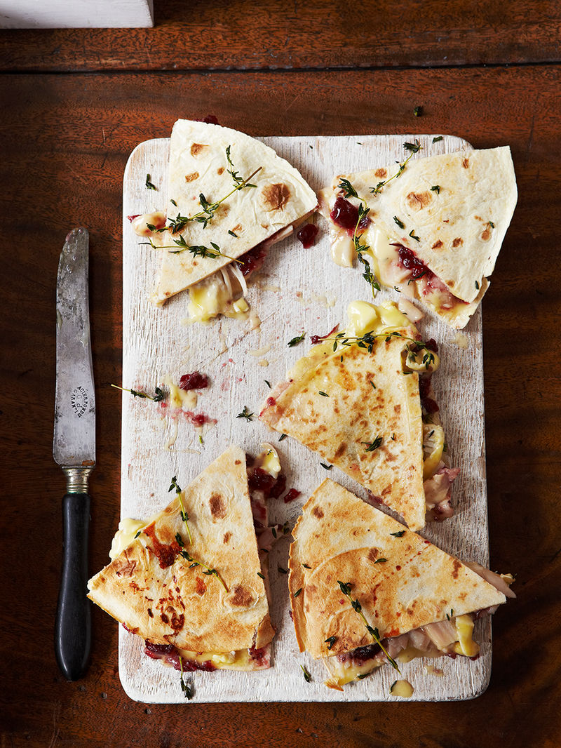 Boxing day quesadillas