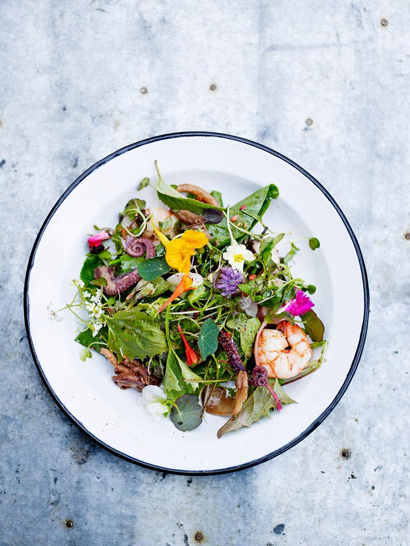 Japanese-inspired seafood salad