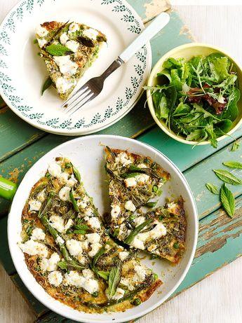 Summer vegetable & goat's cheese frittata