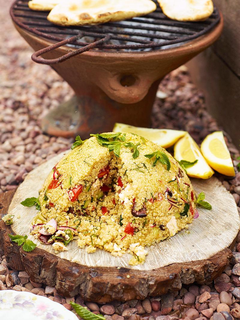 Greek Style Quinoa Salad Bomb Vegetables Recipes Jamie Magazine Recipes