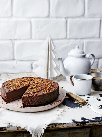 Chocolate truffle chestnut torte