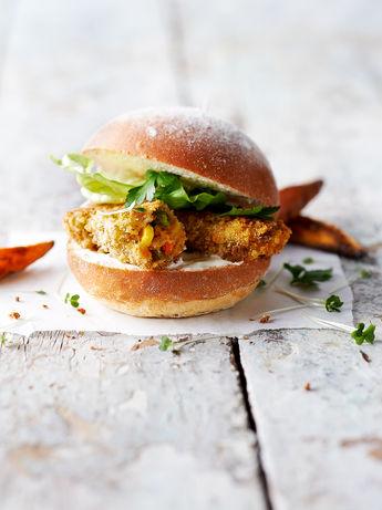Veggie 'fish finger' sandwiches