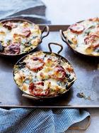 Individual vegetarian lasagnes