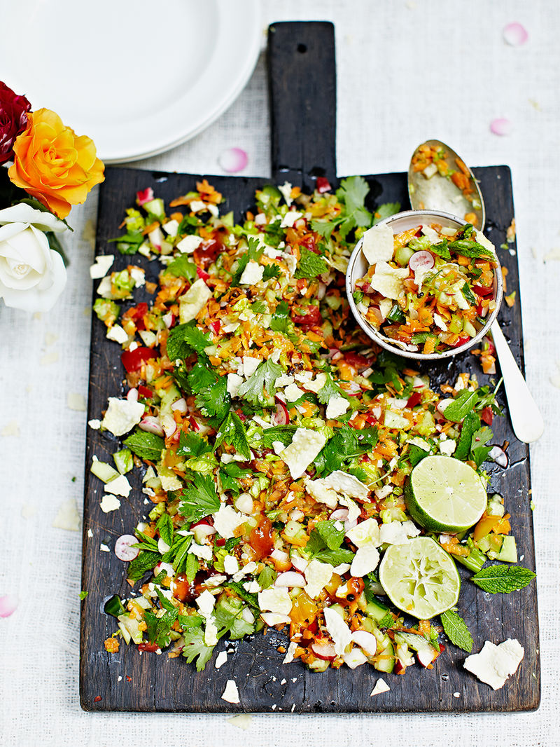 Indian Chopped Salad Vegetable Recipes Jamie Oliver