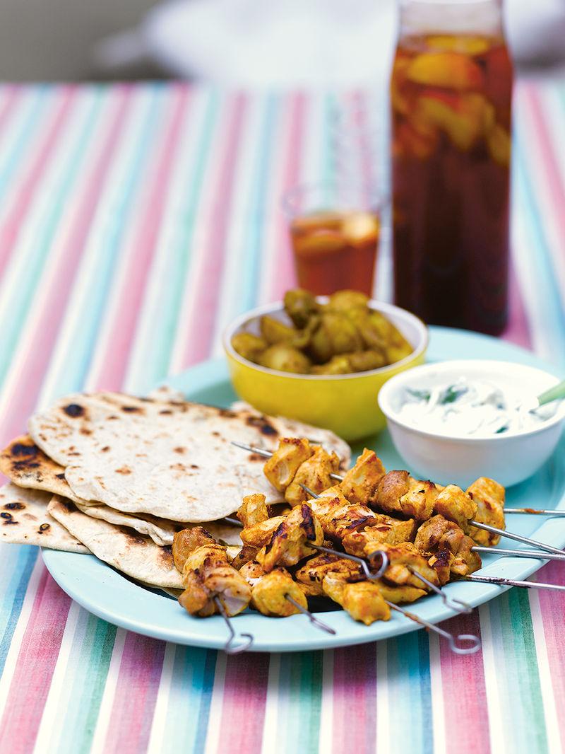 Chicken tandoor-style kebabs