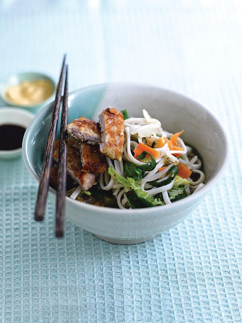 Pork tonkatsu & noodles