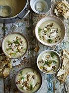 Celeriac & quince soup