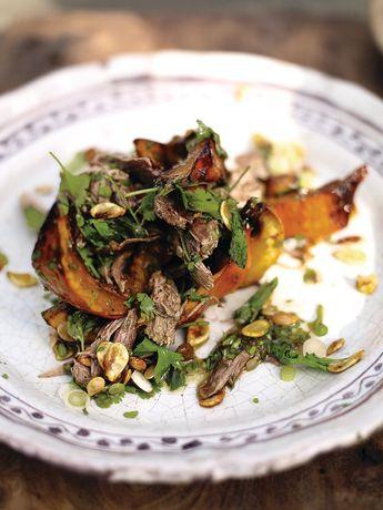 Asian squash salad with crispy duck