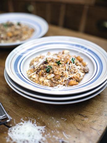Squash & sausage risotto