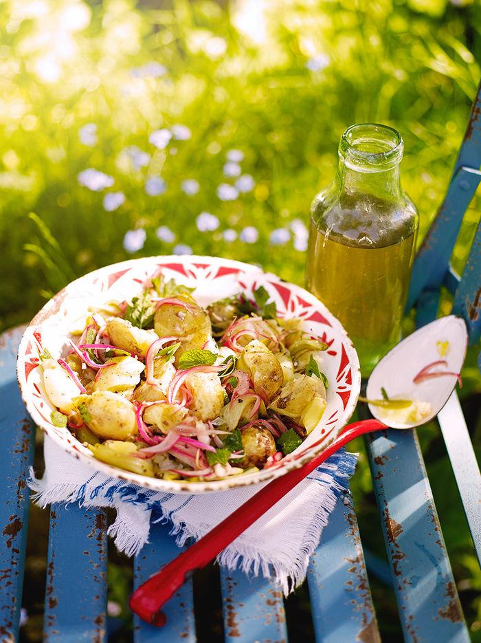 Jersey Royal potato salad