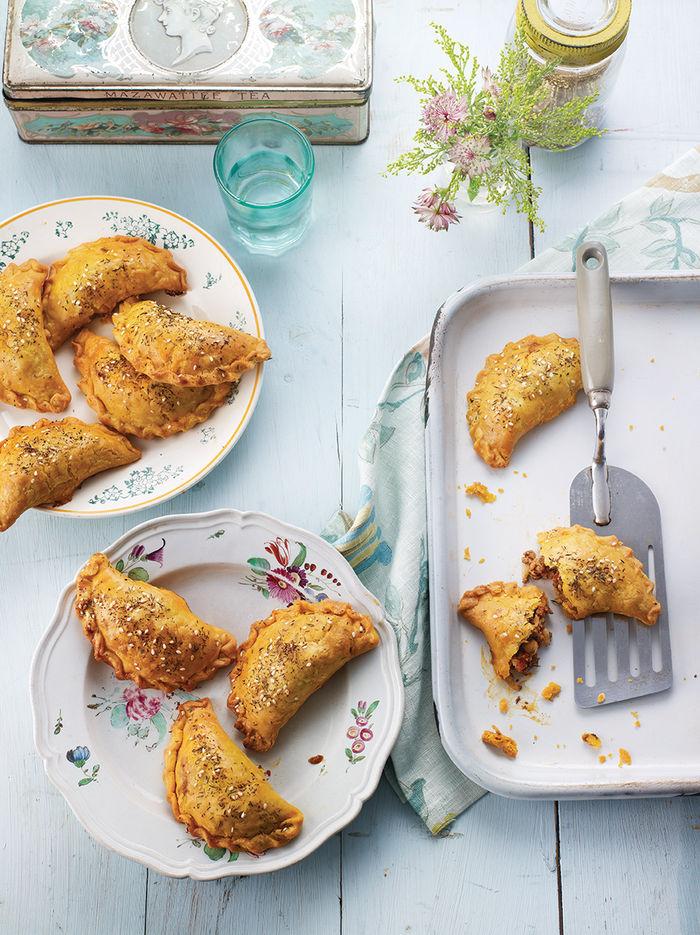 Lamb & chickpea hand pies