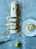 Lime & coconut roulade