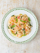 Oozy shrimp risotto