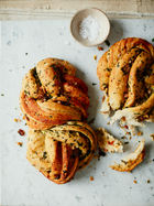 Stuffed braided bread
