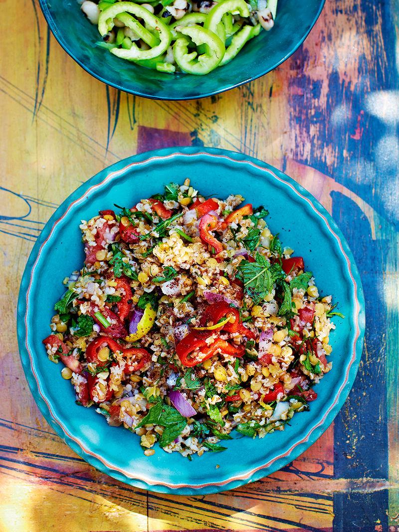 Bulgur & lentil salad