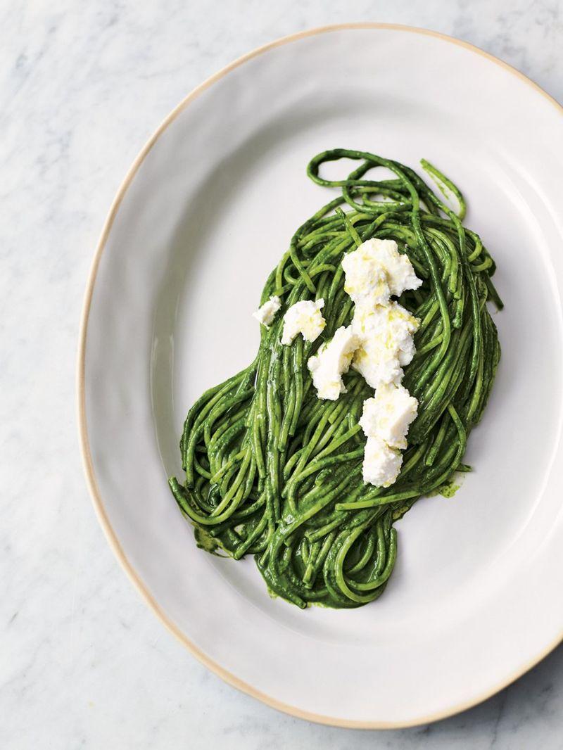 Super green spaghetti