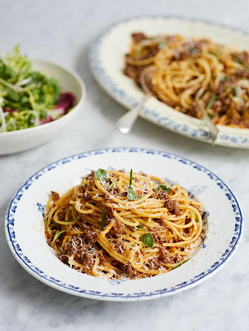 Pippa S Spaghetti Bolognese Pasta Recipes Gennaro Contaldo For Jamie Oliver Hotpoint
