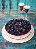 Blackcurrant ombré cheesecake