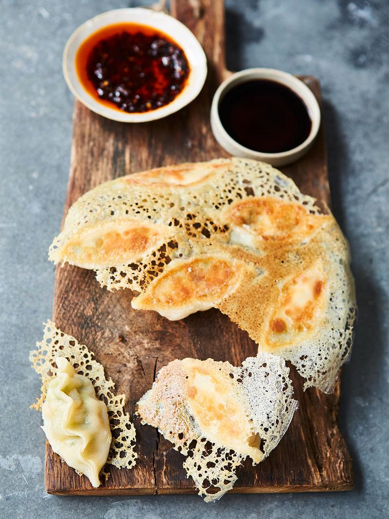 Liv Tyler's prawn dumplings
