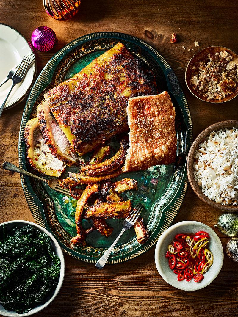 Turmeric-spiced pork loin & ribs