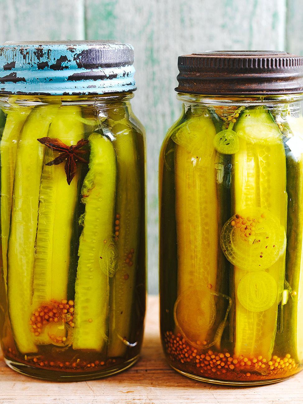 Easy Pickled Cucumber Recipe Jamie Magazine Recipes