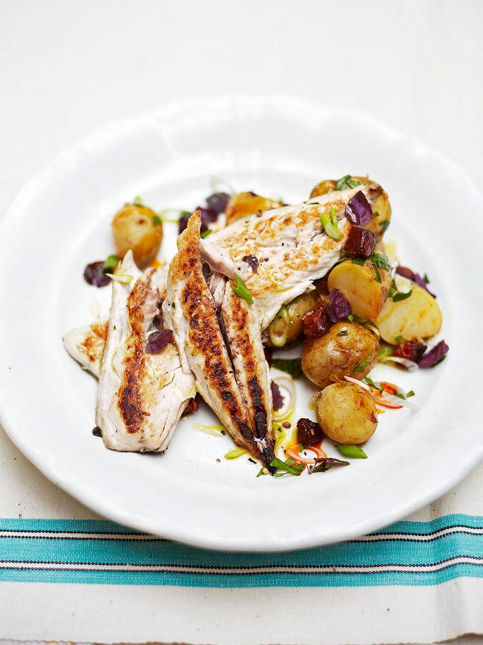 Warm mackerel & potato salad