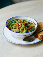 Jools' wholesome veg & bean soup