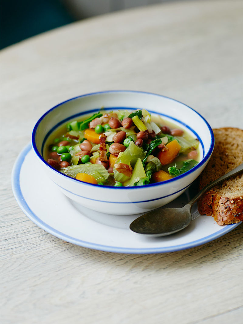 Jools Wholesome Veg And Bean Soup Vegetable Recipes Jamie Oliver