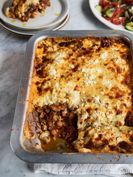 Vegetarian Moussaka Recipe Jamie Oliver Aubergine Recipes