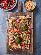 Vegan falafel fritters