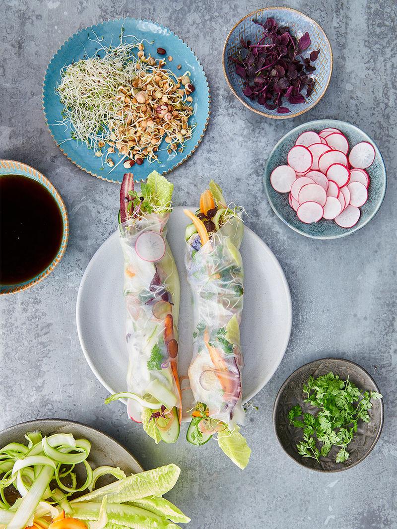Jessica Chastain's tempura rolls
