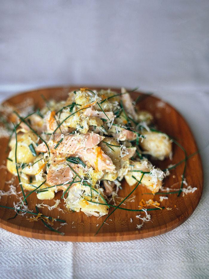 Smoked trout, horseradish & new potato salad