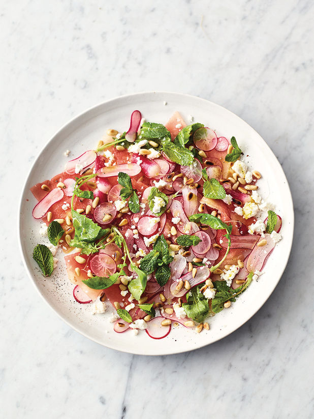 Watermelon, radish & feta salad