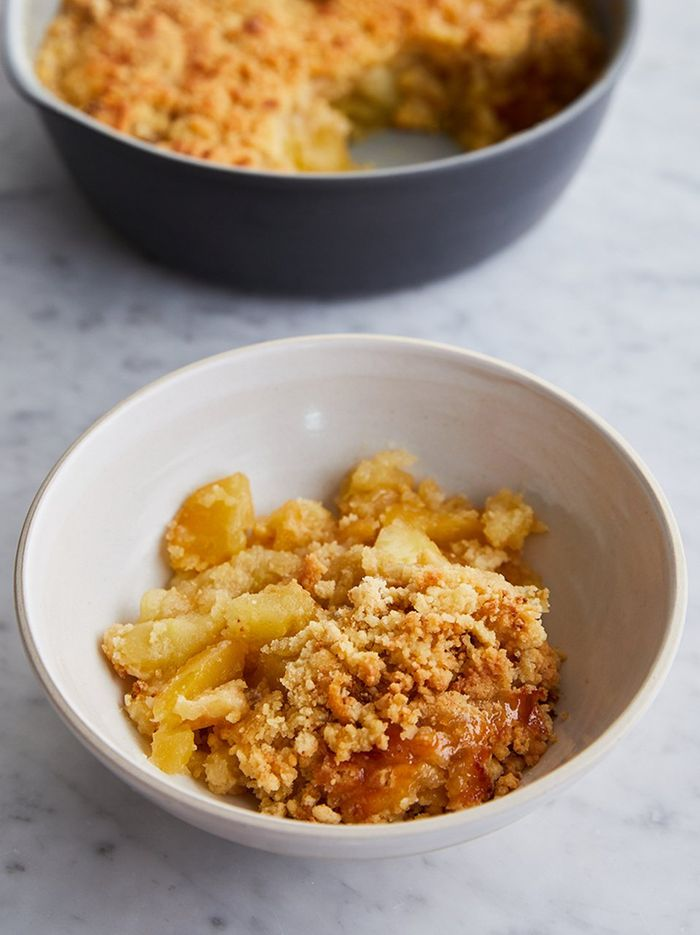 Classic apple crumble