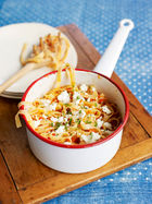 Roasted red pepper & feta pasta