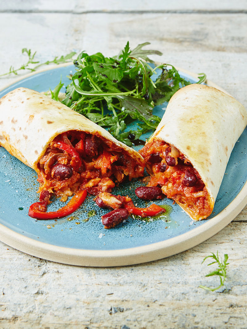 Vegetarian Bean Burrito Recipe Jamie Oliver Bean Recipes